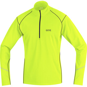 GORE WEAR R3 Thermo Long Sleeve Zip Shirt Men neon yellow/black